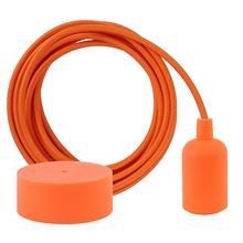 Orange stofledning 3 m. m/deep orange New